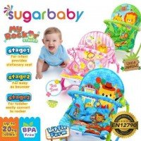 Baby Bouncer Sugar Baby My Rocker Little Farm Biru