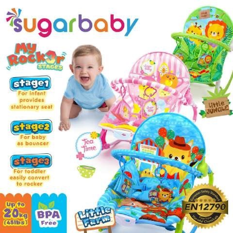 Baby Bouncer Sugar Baby My Rocker Tea Time Pink