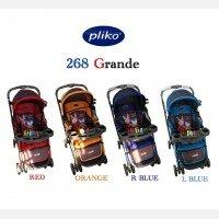 Baby Stroller Pliko Grande B/S 268R - Orange
