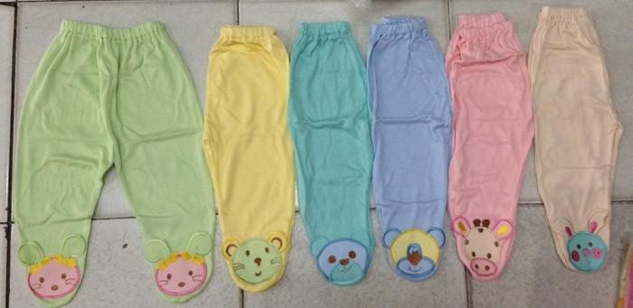 Celana Panjang Chibon Polos Warna Bordir Tutup Kaki