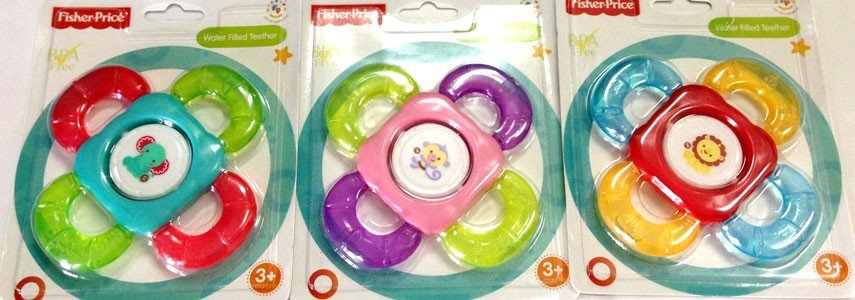 Water Filled Teether + Rattle Fisher Price