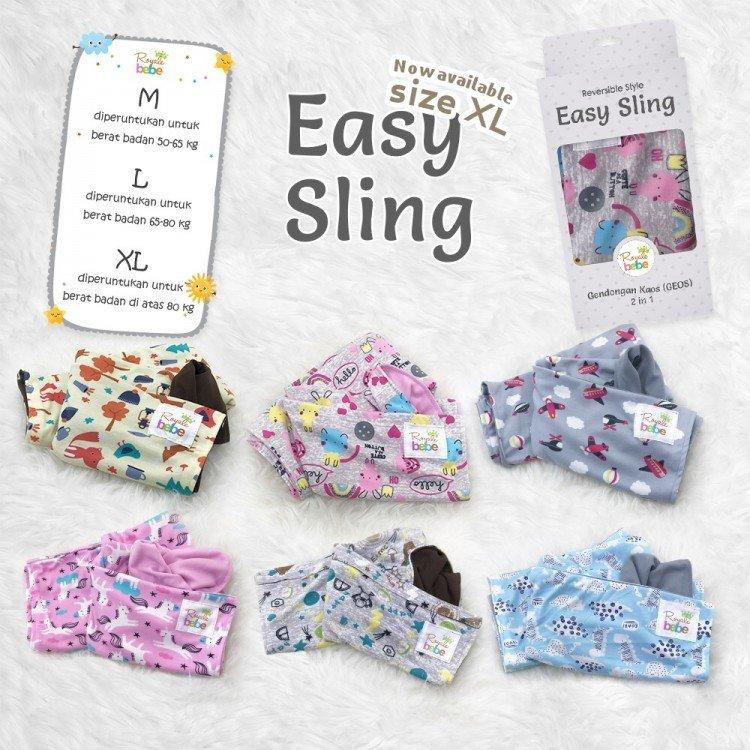Gendongan Bayi Kaos Easy Sling XL (Geos)