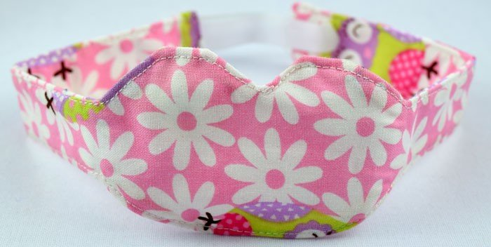 Penutup Mata Bayi (Washable Eye Mask) Bunga Pink