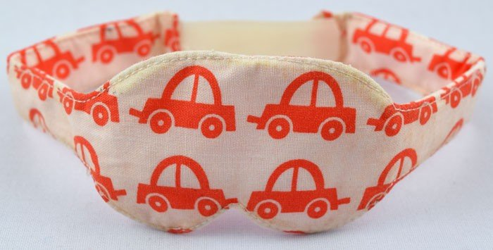 Penutup Mata Bayi (Washable Eye Mask) Car Orange