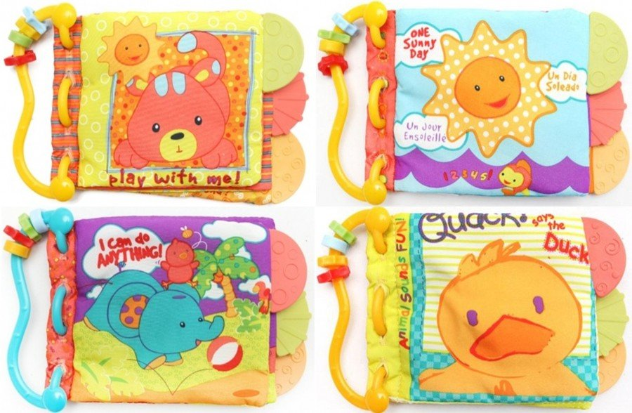 Teether Book Animals Carters