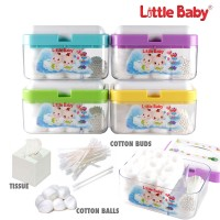 Kotak Multifungsi Little Baby (Kotak Kapas + Cotton Buds)