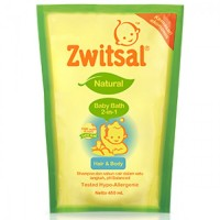 Zwitsal Baby Bath Hair & Body Pouch 450ML