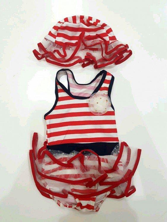 Baju Renang Salur Merah 18070032