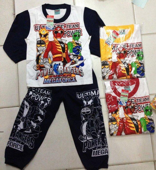 Baju Tidur Kaos Power Rangers 4/8
