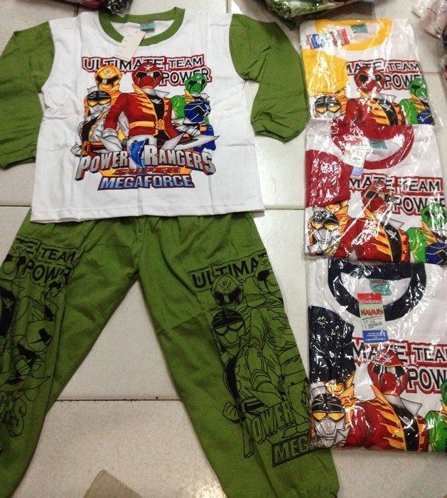 Baju Tidur Kaos Power Rangers 10/14