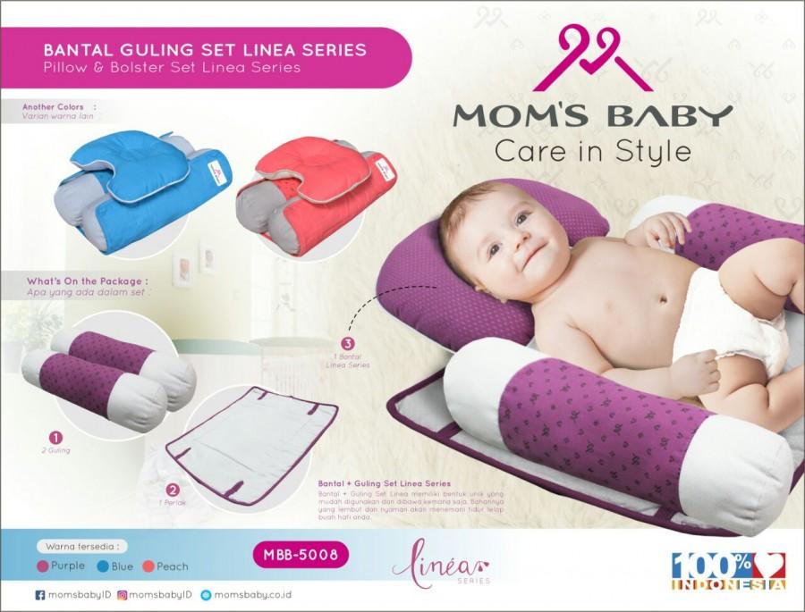 Bantal Guling Set Linea Series Moms Baby MBB5008 - Salem