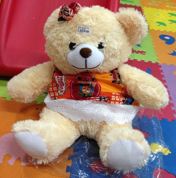 Boneka Bear 15 Inch Baju Krim