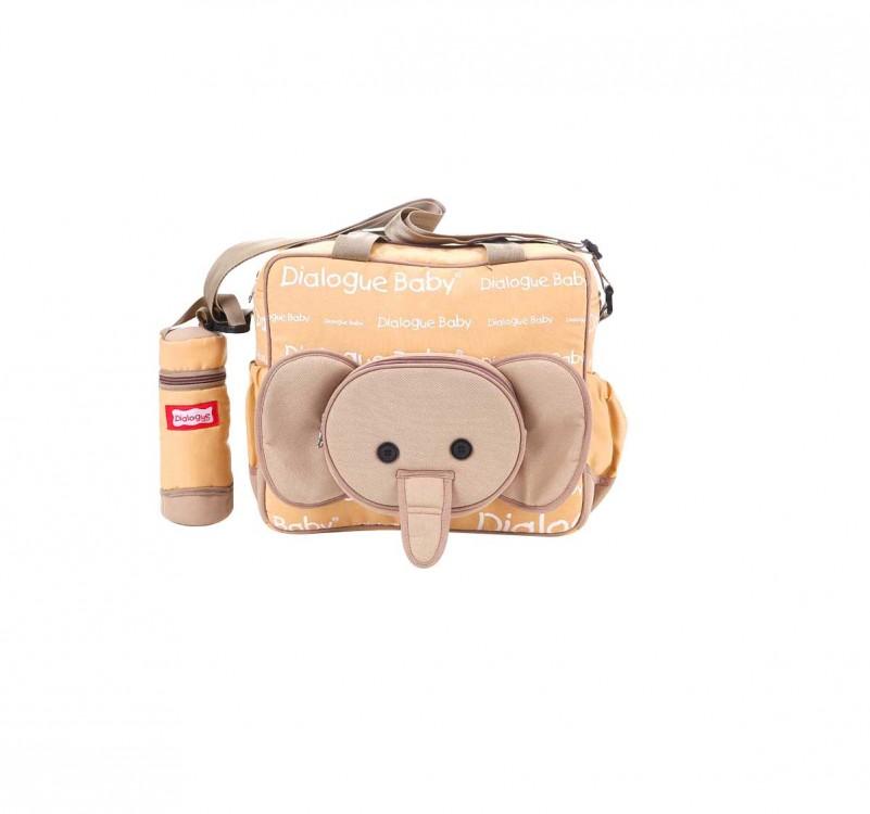 Tas Bayi Sedang Coklat + Tempat Botol Susu Cute Series Dialogue DGT7118