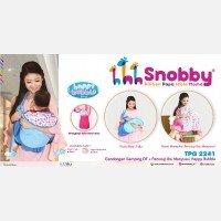 Gendongan Bayi Samping + Penutup Ibu Menyusui Happy Bubble Series Snobby TPG2241 - Blue