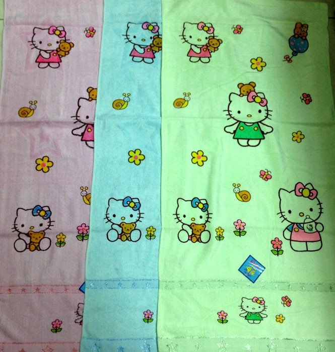 Handuk Baby Twin Warna Hello Kitty