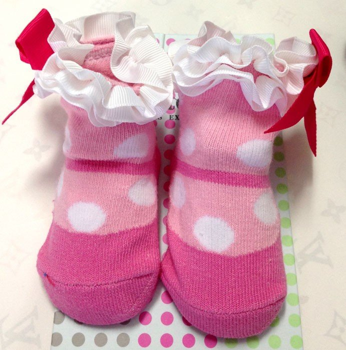 Kaos Kaki Pink Polkadot 16060136