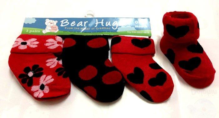 Kaos Kaki 3 In 1 Bear Hug Merah 16060166