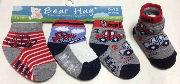 Kaos Kaki 3 In 1 Bear Hug 17010112