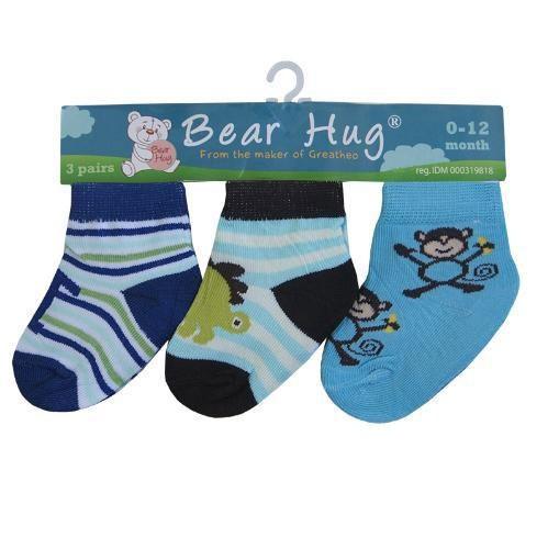 Kaos Kaki 3 In 1 Bear Hug Animals 18010182