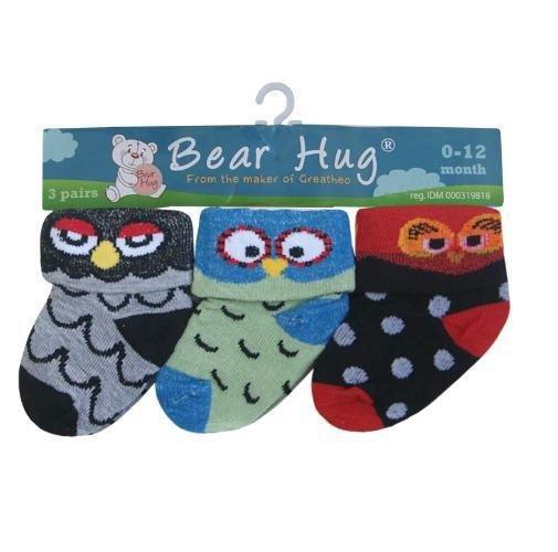 Kaos Kaki 3 In 1 Bear Hug Owl 18010187