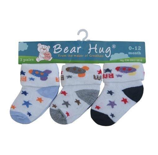 Kaos Kaki 3 In 1 Bear Hug Bintang 18010188