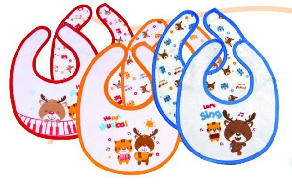 Kiddy Slaber / Tatakan Iler 2pcs Kancing