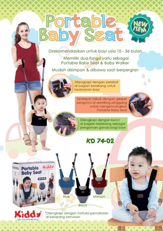 Kiddy Portable Baby Seat and Baby Walker 18100106