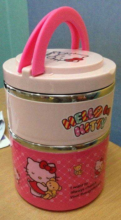 Kotak Makan Stainless Hello Kitty 2 Susun (B)