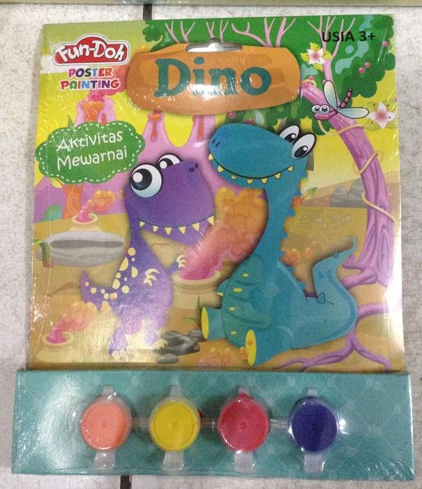 Fun Doh Poster Painting Dino
