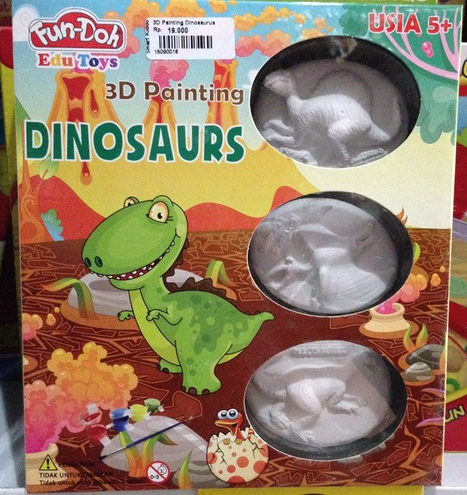 Fun Doh 3D Painting Dino (Relief Magnet)