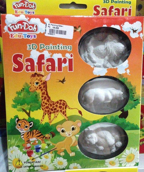 Fun Doh 3D Painting Safari (Relief Magnet)