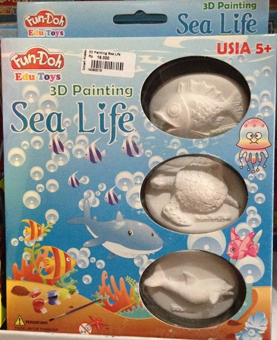 Fun Doh 3D Painting Sea Life (Relief Magnet)
