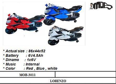 Motor Aki Lorenzo MOB-3024 Merah