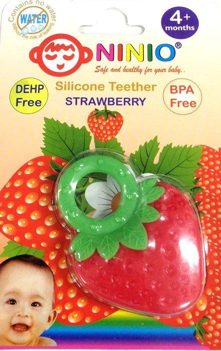 Silicone Teether Strawberry Ninio