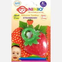 Silicone Teether Strawberry Ninio