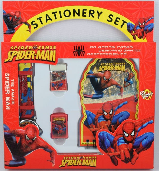 Stationery Set Jam Tangan Spiderman