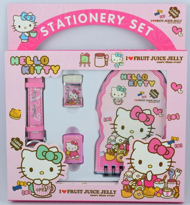 Stationery Set Jam Tangan Hello Kitty