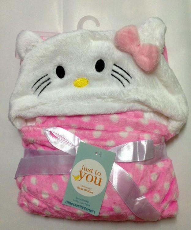 Selimut Bayi Hoodie Hello Kitty