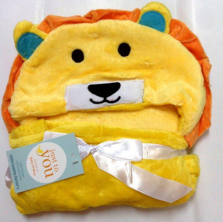 Selimut Bayi Hoodie Lion Kuning