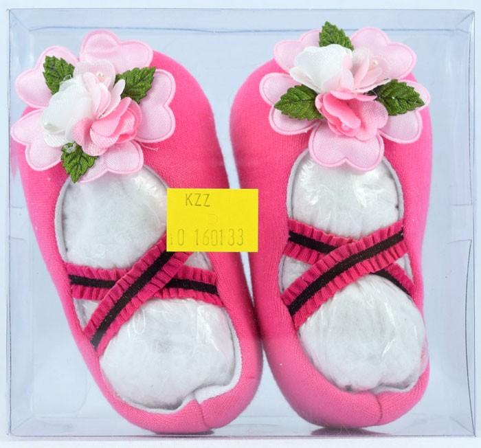 Sepatu Baby Mika Osella (Hitam / Pink)