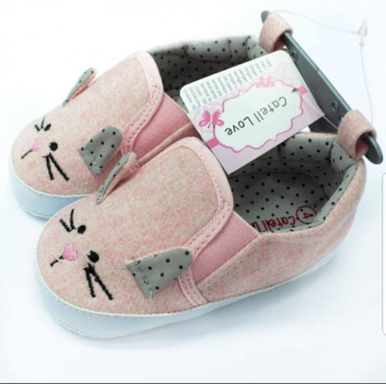 Sepatu Baby Catell Love Mouse Pink 18090067