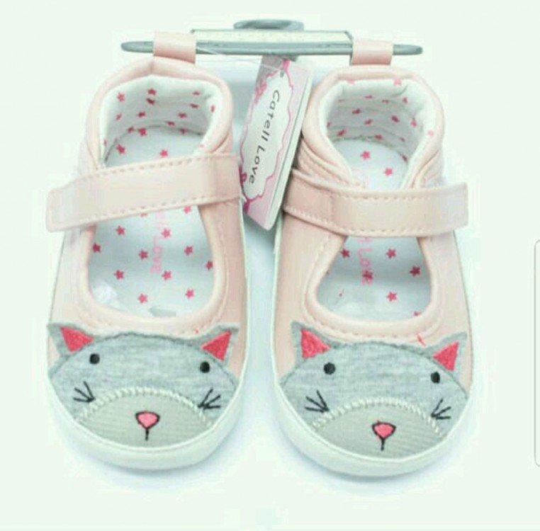 Sepatu Baby Catell Love Mouse ABu Pink 18090069