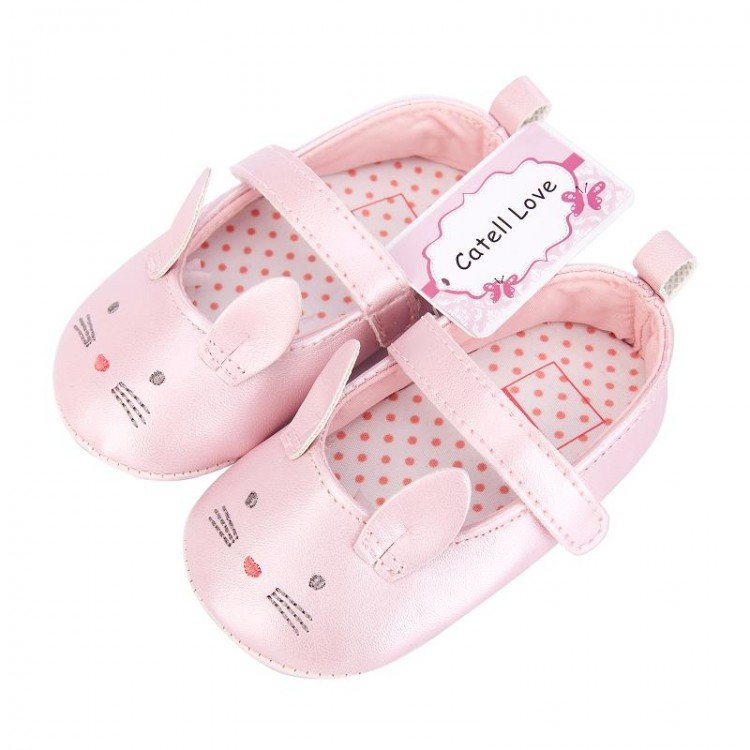 Sepatu Baby Catell Love Pink Cat Kuping 18050028