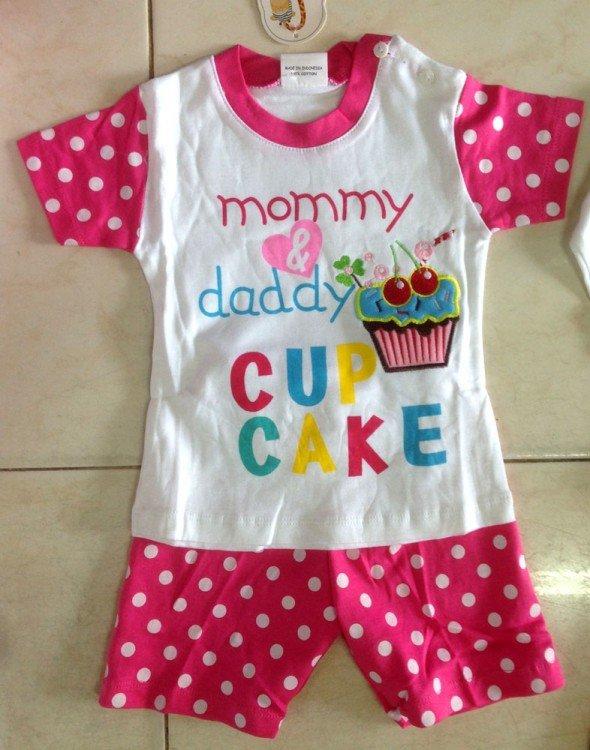Setelan Cewek Mummy and Daddy Cup Cake 18010139