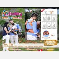 Gendongan Bayi Hipseat 6 Posisi Snobby TPG1743 Animal Series - Orange