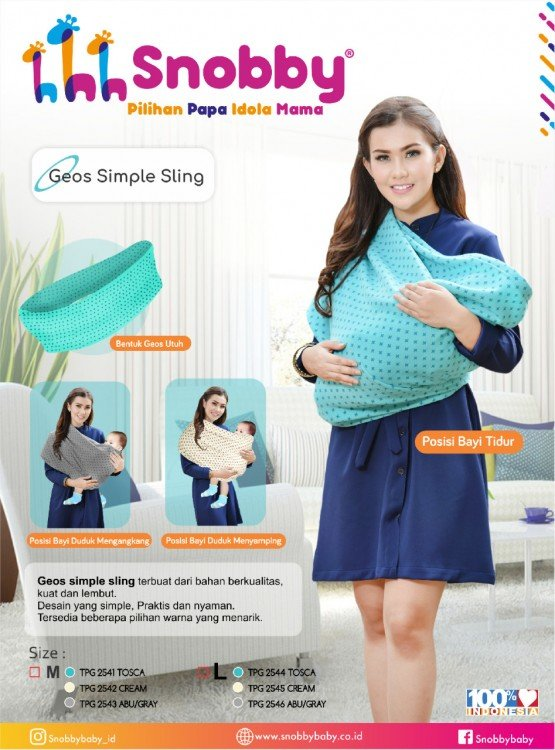 Snobby Gendongan Kaos (Geos) Simple Sling L Cream
