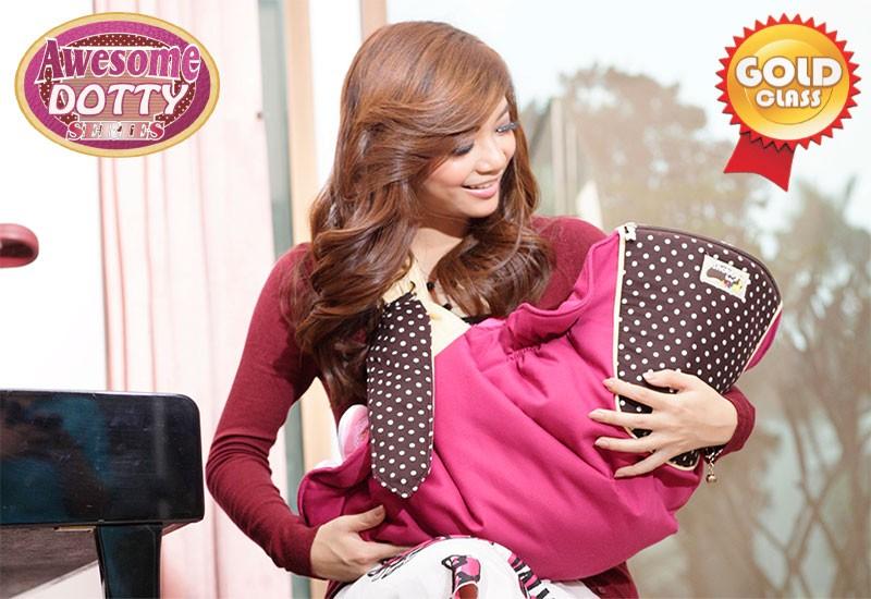 TPG1442 Snobby Gendongan Samping 3 Fungsi + Sandaran Print Awesome Dotty (Violet)