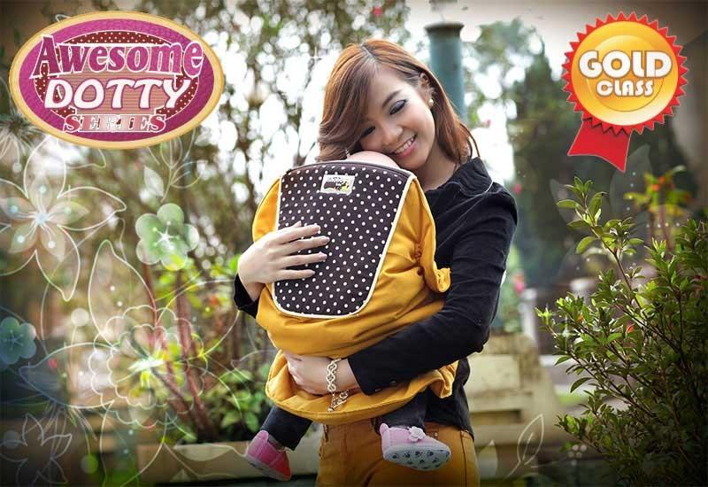 TPG1442 Snobby Gendongan Samping 3 Fungsi + Sandaran Print Awesome Dotty (Gold)