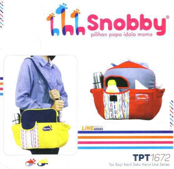 TPT1672 Snobby Tas Bayi Kecil Saku Kerut Line Series (Kuning)