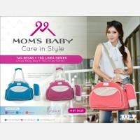 Tas Bayi Besar + Tempat Botol Susu Linea Series Moms Baby MBT3025 - Salem